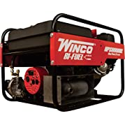 Winco Portable Dual Fuel Generator - 6000 Surge Watts, 5500 Rated Watts, Electric Start, Model# HPS6000HE