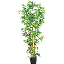 Nearly Natural 5214 Bambusa Bamboo Silk Tree, 6-Feet, Green