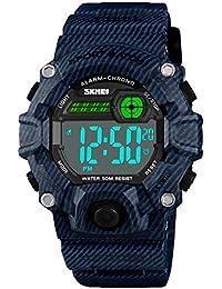 Boys Girls LED Sport Watch,Waterproof Digital Electronic...