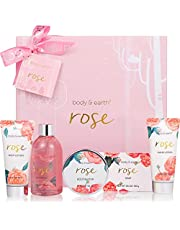 Bath Spa Gift Set for Women - Luxurious 5 Piece Bath and Body Set Includes Shower Gel, Body Butter, Hand Cream, Body Lotion and Bar Soap, Perfect Women Gift for Home Relaxation, Spa Gift Box