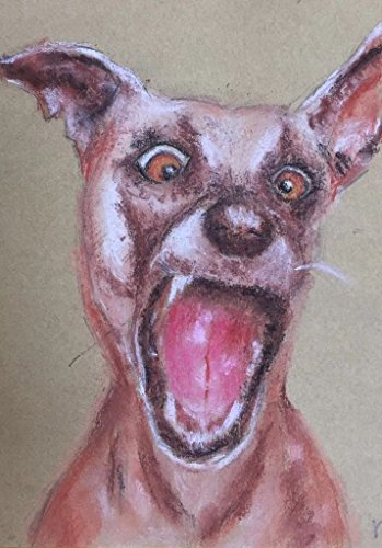 WALL ART ARTWORK PAINTING HUFF DOG