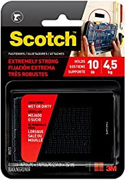 Scotch Mounting, Fastening & Surface Protection RF9731 Interlocking Fasteners 1 in x 3 in, Strips, 4, Blac
