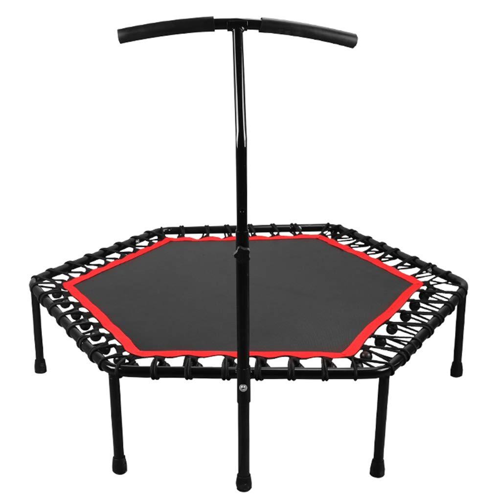 schwarz 137cm Gartentrampoline Trampolin Sprungbett Sprungtrampolin Yoga-Trampolin Für Erwachsene Nach Hause Indoor-Trampolin Touch-Sprungbett Gewichtsverlust-Trampolin Gewicht 250kg