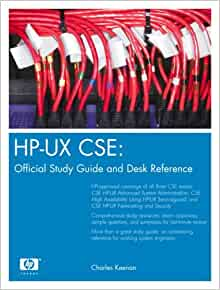 Hp ux cse official study guide and desk reference