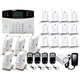 GSM Anti Burglar DIY Smart House Alarms Systems Yard Kit For Homes Wireless Security Remote Control Door Contact Motion Detector Homekit