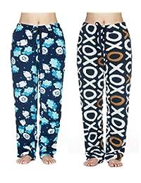 SOVA Women's 2-Pack Ultra Comfy Relaxed Fit Micro Fleece Pajama Pants (2 pcs Set)