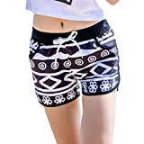 Zehui Pantalones para amantes, pantalones para la playa, Pantalones cortos Casual Quick Drying Printing Shorts de moda