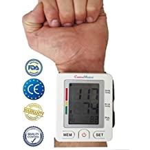 Wrist Blood Pressure Monitor -Doctor tested & endorsed; Accurate Blood Pressure Readings, Detects Irregular Pulse & Heart Rates, High & Low BP. Memory Function, Easy & accurate: Home and Travel use