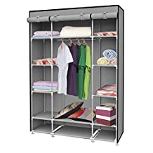 Sunbeam Storage Closet with Shelving, Grey, 52.4 by 18 by 67-Inch