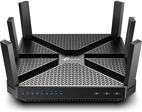 TP-Link AC4000 Smart WiFi Router - Tri Band Router , MU-MIMO, VPN Server, Antivirus/Parental Control, 1.8GHz CPU, Gigabit, Beamforming, (Archer A20),Black (Renewed)