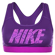 Nike Women's Purple Graphic Nike Sports Bra, Small