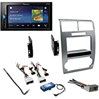 Silver Double DIN Car Radio Dash Panel Trim Installation Kit for 2006-2007 Dodge Charger and 2005-2007 Dodge Magnum