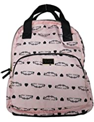 Betsey Johnson Backpack w Pom Pom (Rose)
