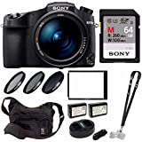 Sony Cyber‑Shot RX10 IV with 0.03 Second Auto-Focus & 25x Optical Zoom (DSC-RX10M4) Pro Bundle (Sony 64GB Memory Card)