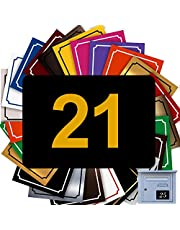 Zelfklevende nummers voor brievenbussen – PVC – gegraveerde plaat om te personaliseren – groot 10 x 7 cm