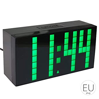 LED de Alarma del Reloj Digital multifunción electrónico Repetir Pantalla Grande de Reloj Local Decorativo Mengonee: Amazon.es: Relojes