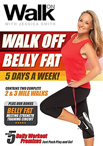 Walk On: Walk Off Belly Fat 5 Days a Week with Jessica Smith, Walk at Home + Strength Training for Women, Beginner, Intermediate (At Home Workout Dvd)