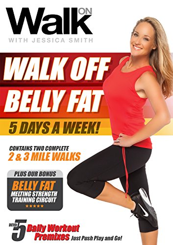Walk On: Walk Off Belly Fat 5 Days a Week with Jessica Smith, Walking at Home, Interval Low Impact Cardio and Strength Training for Women, Beginner, Intermediate Level (Tips To Reduce Stomach Fat At Home)