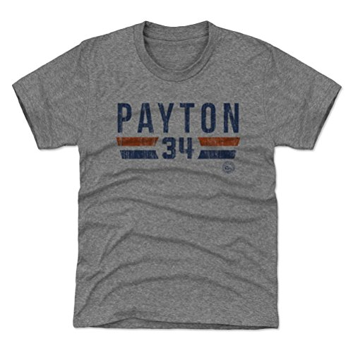 500 LEVEL Chicago Bears Youth Shirt - Kids Large (10-12Y) Tri Gray - Walter Payton Font B ()