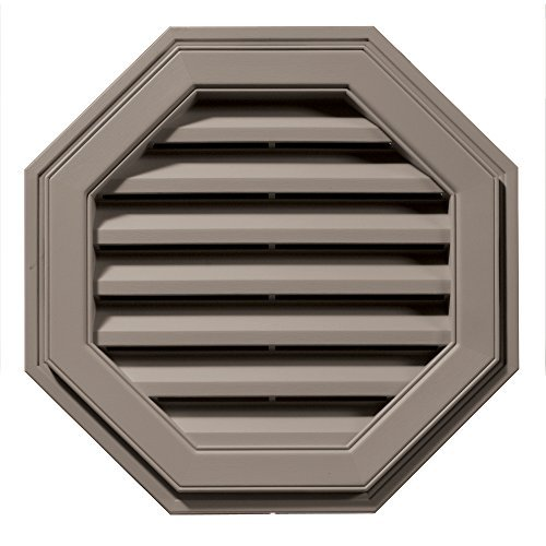 Builders Edge 120012222008 22 Octagon Vent 008, Clay by Builders Edge