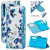 ANGELLA-M Compatible with Samsung Galaxy A9 2018 Case, [Wallet Stand] Flip Case PU Leather Resistant Phone Cover for Galaxy A9 2018 /Galaxy A9s - LF#7