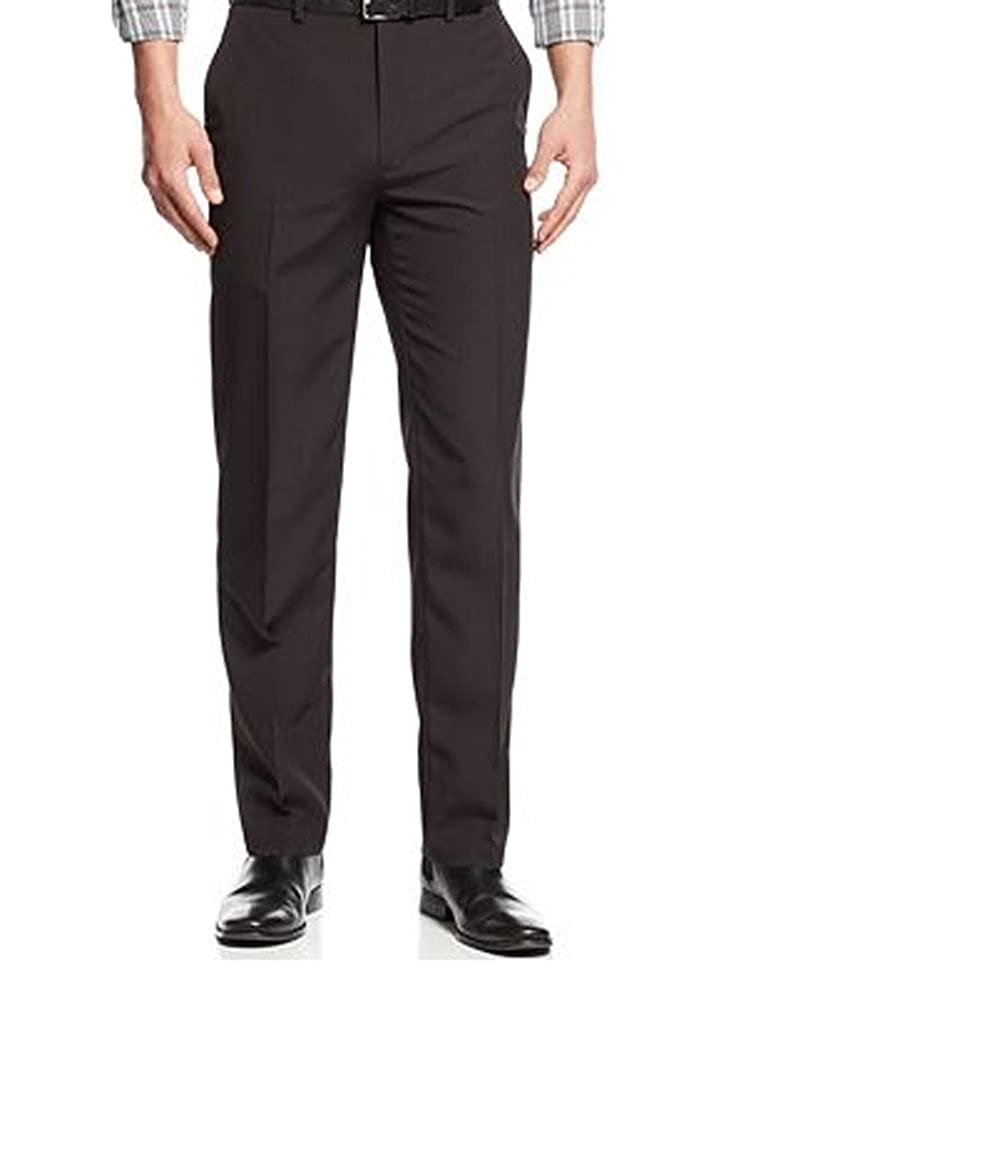 Black Pinstriped 48Wx34L Alfani Mens Big and Tall Dress Pants