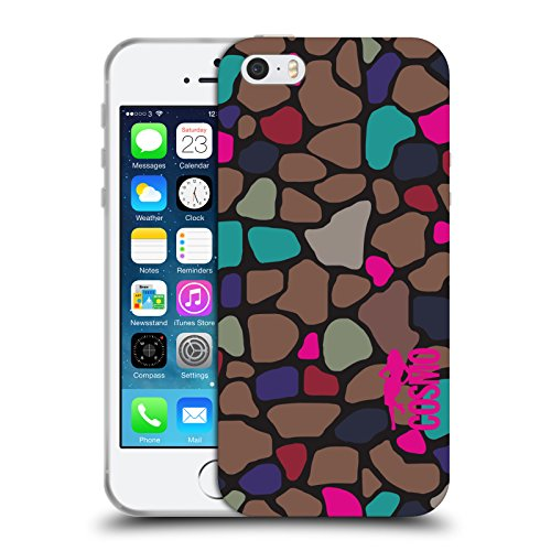 Official Cosmopolitan Giraffe Animal Print Soft Gel Case for Apple iPhone 5 / 5s / SE