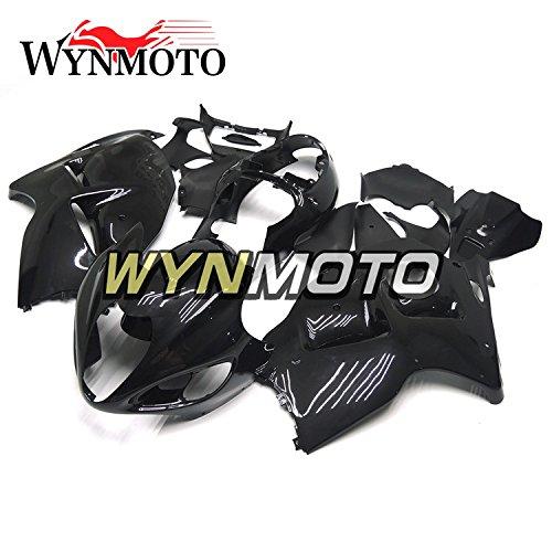 WYNMOTO グロスブラック外装パーツセット適応スズキ鈴木 GSXR1300 GSX-R 1300 97-07 1997 2007 年カウボディキット   B077GQYDW9
