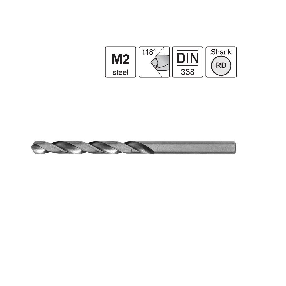 set de 19 pi/èces DIN 338 Qualit/é Professionnelle. coffret m/étal S/&R Forets HSS /à M/étaux et Acier 1-10 mm acier HSS angle 118 /° s/érie GM