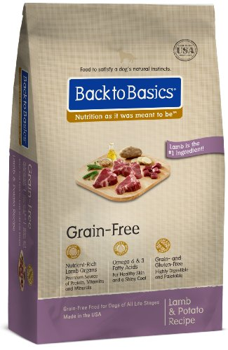 Back to Basics Grain-Free Dry Dog Food, Lamb and Potato Recipe, 24-Pound Bag