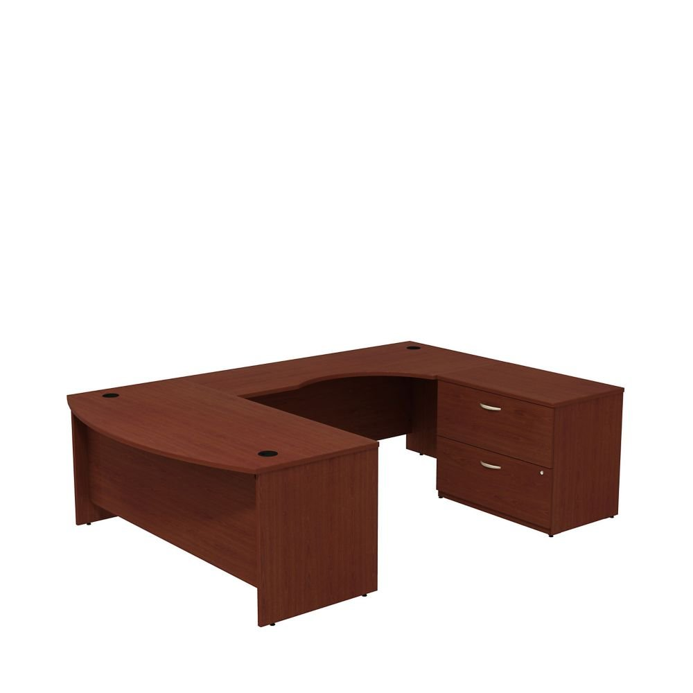 Series C U-Desk with Lateral File - 72''W Dimensions: 71.1''W x 107.1''D x 29.7''H Weight: 417 lbs Mahogany
