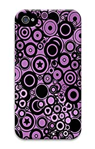 Purple Circles Custom iPhone 4/4S Case Cover ¨C Polycarbonate