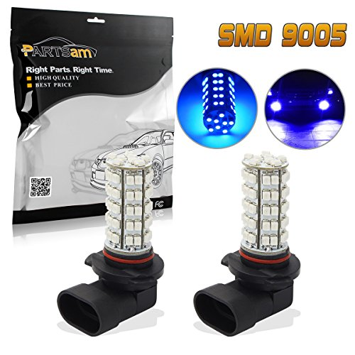Partsam 2x Ultra Blue 9140 9145 9050 H10 9005 LED bulbs for Fog Driving Light DRL Running Light 68-3528-SMD High Power Car Led Projector Lens Shockproof Vibration Resistant Lamps (04 Nissan Altima Projector)