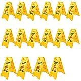 """BestEquip 16 Pack Wet Floor Sign 25"""" Yellow Caution"""