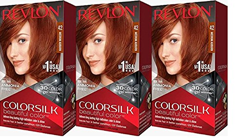 Revlon Colorsilk Beautiful Color, Medium Auburn, 3 Count