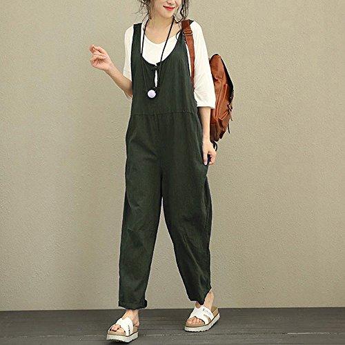Vintage Bretelles avec Mode Femme Chic Salopette Combinaisons Jumpsuit 7XZfx55q