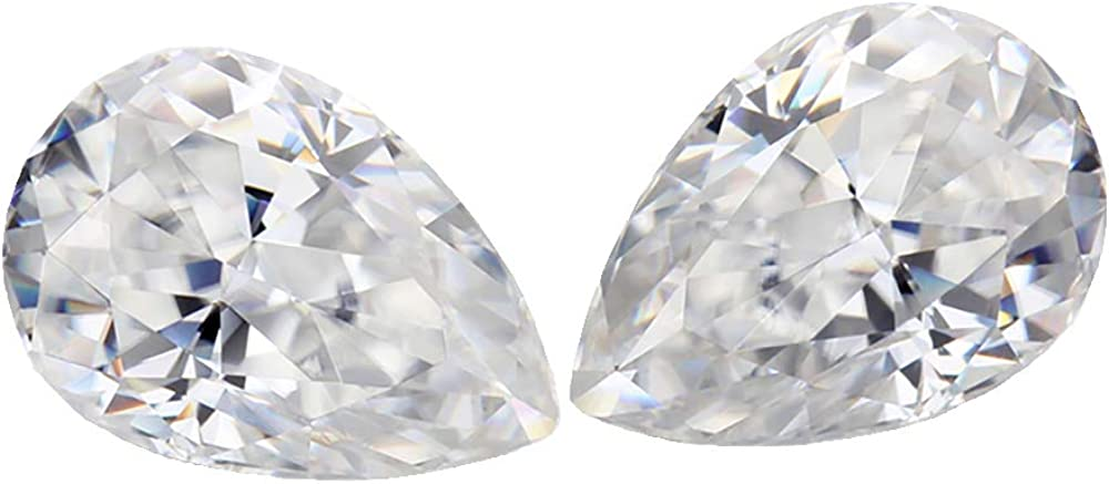 0.1CT to 6CT ice crushed Minneapolis Mall pear wate cut D moissanite color Recommendation stones