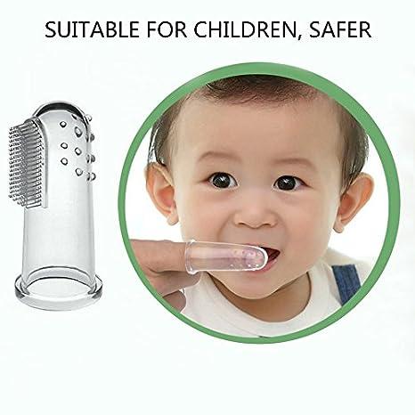 Ballylelly Cepillo de dientes y cepillo de dientes del dedo del silicón de Baby Kid Soft Dientes limpios: Amazon.es: Bebé