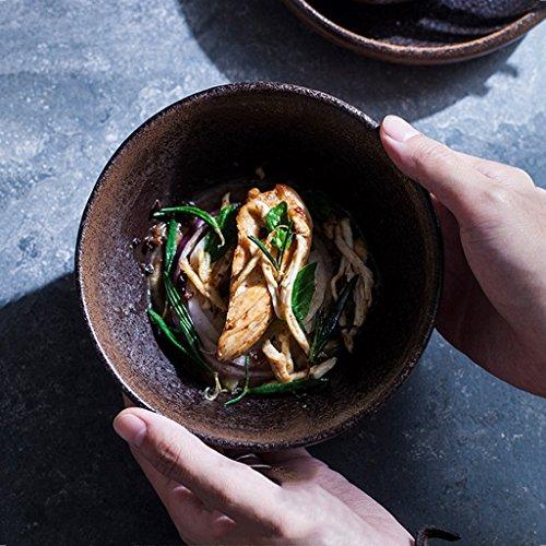Flow Blue Soup Bowl - Creative stoneware salad bowl/household ceramic bowl rice bowl/restaurant bowl soup bowl (Size : 146.5cm)