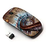Planetar Colorful PrinTed Ultra-thin Wireless Optical 2.4Ghz Mouse - Black ( Complex Network Design )
