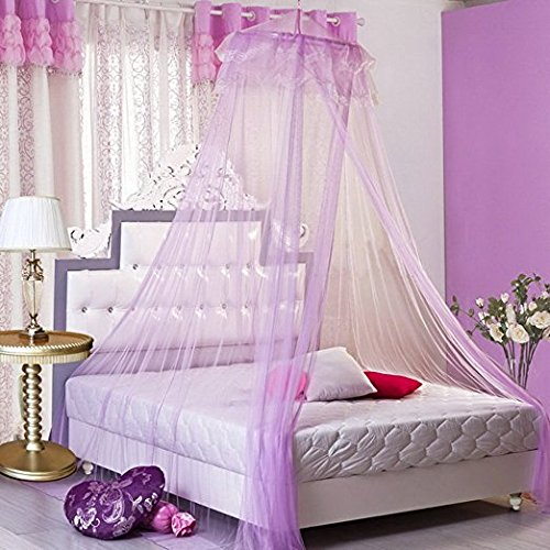 Junson Ceiling Mosquito Net, Princess Bed Canopy Tent Round Dome Mosquito Net Play Tent