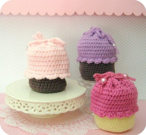 Cupcake Purse Crochet Pattern