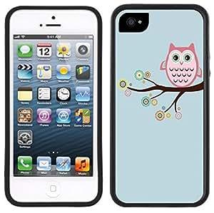 Retro Owl Handmade iPhone 5C Black Case