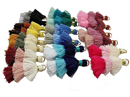 Pamir Tong 50pcs Triple Layer Ombre Tassel, Dangle Earrings Statement Layered Tassel Drop Earrings, Cotton Tassels (Layer Tassel - Layered Tassel