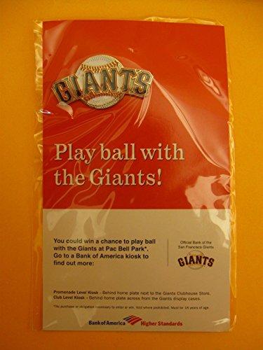 SGA San Francisco Giants - Play Ball With the Giants 2003 Logo Pin Card - Pins Francisco San Giants
