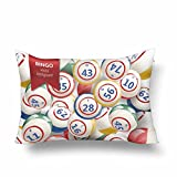 InterestPrint Bingo Lottery Numbers Balls Pillow Cases Pillowcase 16x24, Rectangle Pillow Covers Protector for Home Couch Sofa Bedroom Decoration