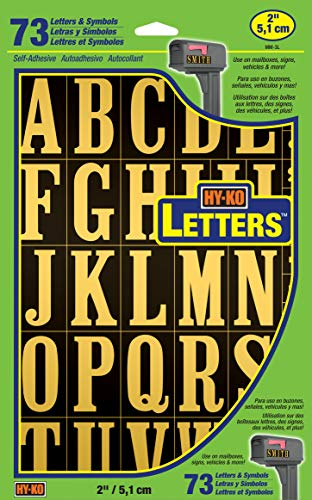 - Hy-Ko Products MM-3L Self Adhesive Vinyl Letters 2