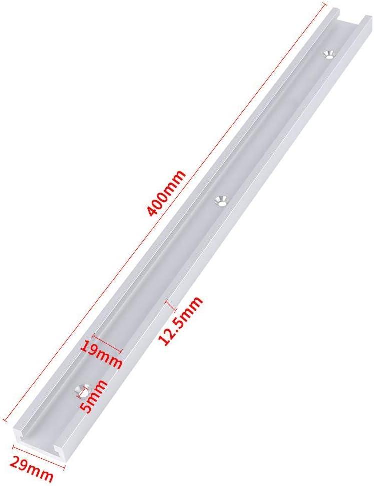 Klemmwerkzeug gerade Kante 400 mm f/ür Tischs/äge Fr/ästisch Aluminiumlegierung SOULONG T-Schiene T-Nut Schienenvorrichtungsschlitz Holzbearbeitungswerkzeug
