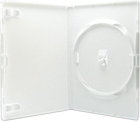AGI AMARAY 10 x individual para DVD caja Blanco lomo de 14 mm ...