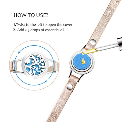 Essential Steel Aromatherapy Leather Band 8 Color Women Gift Set